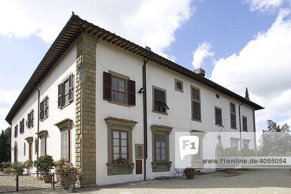 Castello di Vicchiomaggio  Chianti  Provinz Florenz  Firenze  Toskana  Italien  Europa