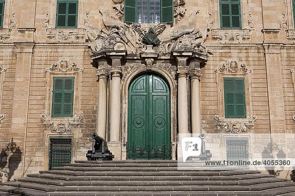 Auberge de Castille  Sitz des Premierministers von Malta  Valletta  Malta  Europa