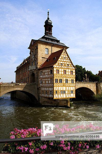 Altes Rathaus  Bamberg  Oberfranken  Bayern  Deutschland  Europa