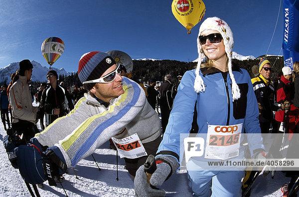 Swiss Snow Walking Event  Arosa  Graubünden  Schweiz  Europa