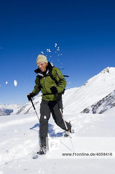 Schneeschuhtour  Bielerhöhe  Galtür  Tirol  Österreich  Europa