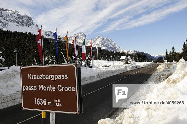 Kreuzbergpass  Elferkogel  Hochpustertal  Südtirol  Dolomiten  Italien  Europa