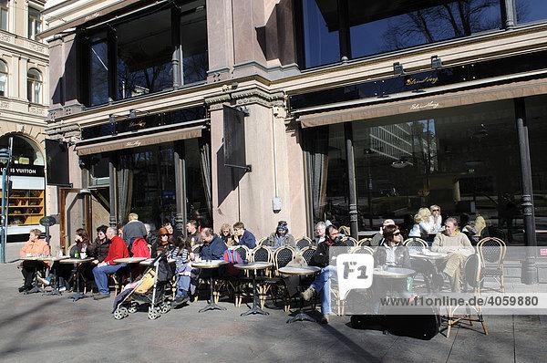 Cafe Strindberg  Esplanade  Helsinki  Finnland  Europa