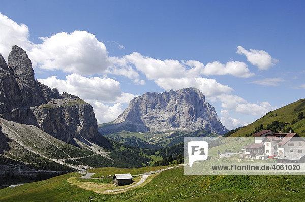 Grödner Joch  Gröden  Südtirol  Dolomiten  Italien  Europa