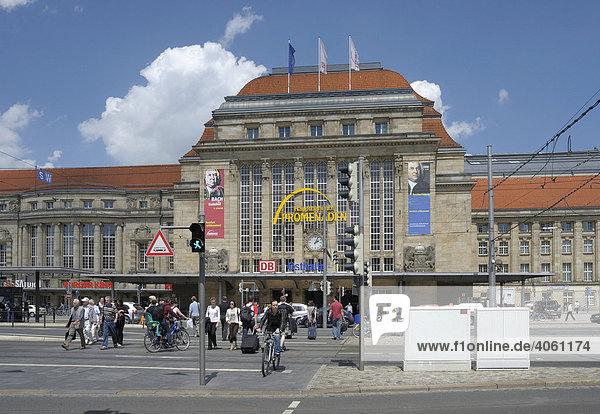 Hauptbahnhof  Leipzig  Sachsen  Deutschland  Europa