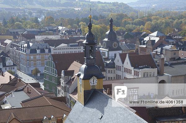 Blick auf Rudolstadt  Thüringen  Deutschland  Europa