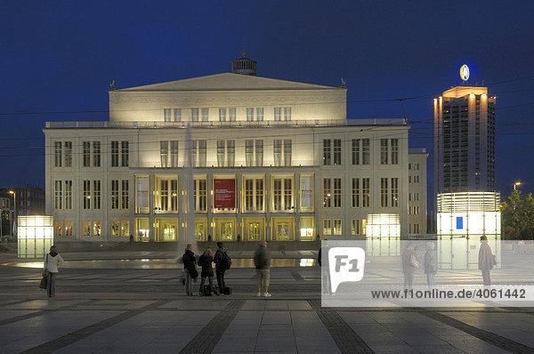 Oper  Augustusplatz  Leipzig  Sachsen  Deutschland  Europa
