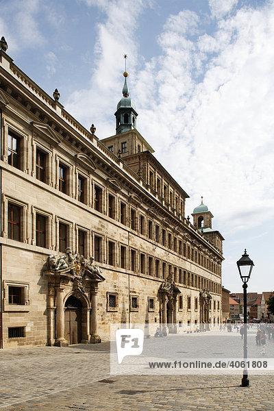 Rathaus  Wolffscher Bau  Altstadt  Nürnberg  Mittelfranken  Franken  Bayern  Deutschland  Europa