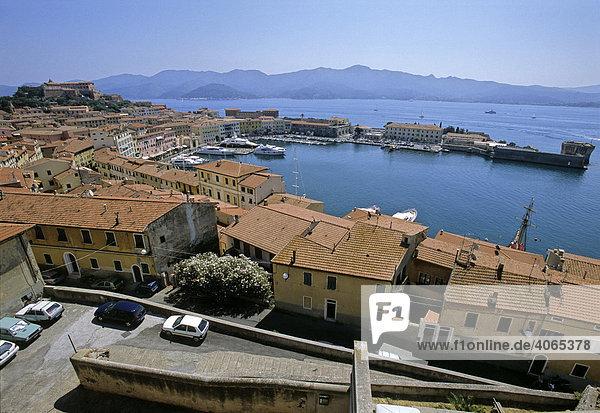 Forte Stella  Darsena - harbour  Portoferraio  Elba Island  Livorno Province  Tuscany  Italy  Europe