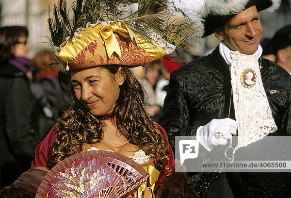 Masken  Karneval in Venedig  Venezia  Venetien  Veneto  Italien  Europa