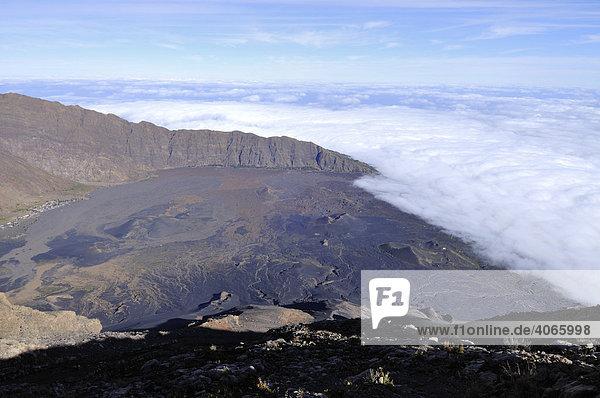 Nördliches Caldera Ende  Cha das Caldeiras  Pico de Fogo  Insel Fogo  Kapverdische Inseln  Kap Verde  Afrika