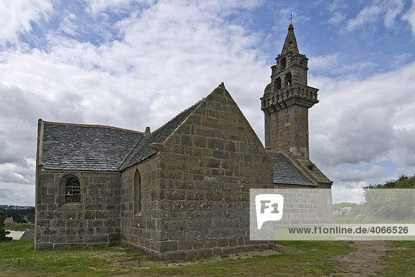 Kapelle auf der Ile Callot  historisches Monument  Bretagne  Frankreich  Europa