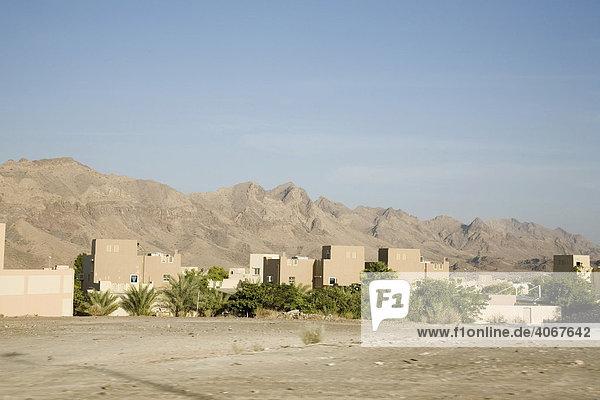 Wüste  Wohngebiet  Oman  Naher Osten