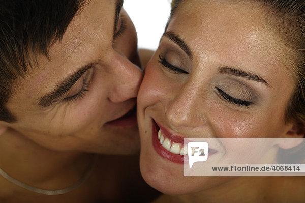 Mann und Frau in sinnlicher Pose