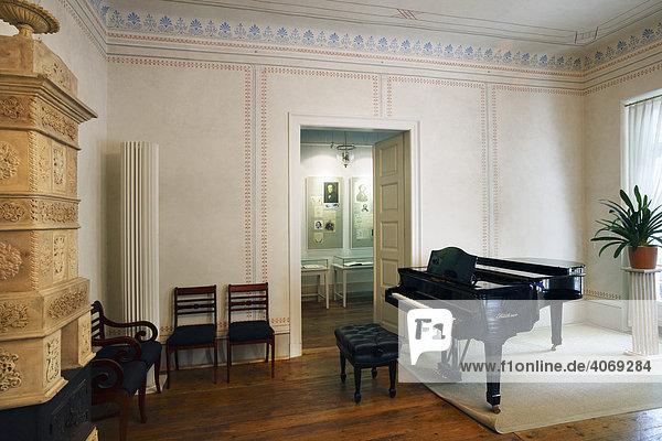 Schumann-Haus  Arbeitszimmer von Robert und Clara Schumann  Leipziger Notenspur  Leipzig  Sachsen  Deutschland  Europa