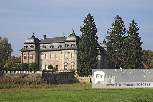Schloss Burgwindheim  Landkreis Bamberg  Oberfranken  Deutschland  Europa