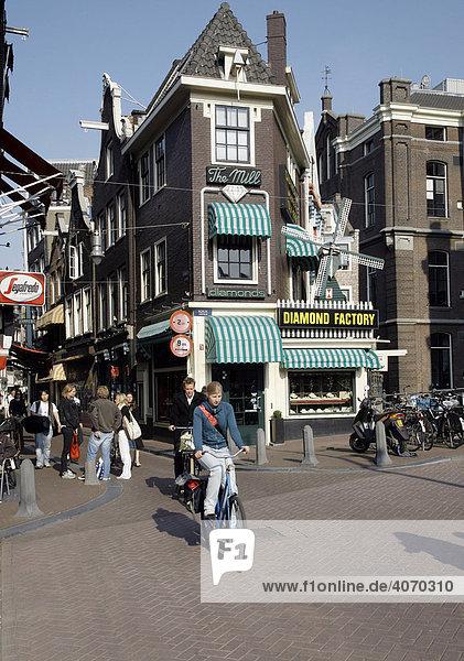 Diamond Factory  The Mill  Grimburgwal  Ecke Oude Turfmarkt  Amsterdam  Niederlande  Europa