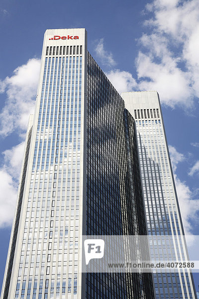 Deka Kapitalanlagegesellschaft der Sparkassen  Bürohochhaus  Frankfurt am Main  Hessen  Deutschland  Europa