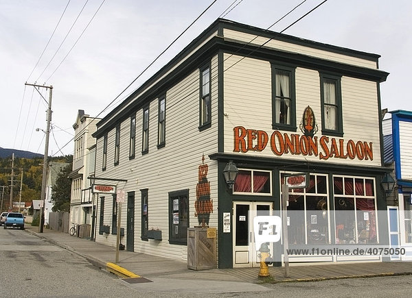 Historischer Red Onion Saloon  Bar  Skagway  Klondike Goldrausch  Alaska  USA  Nordamerika