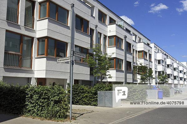 Wohngebäude Wasserstadt Stralau  Expo 2000  Berlin  Deutschland  Europa