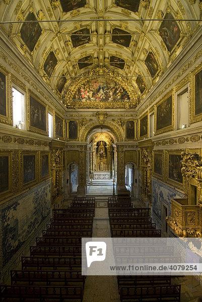Innenansicht Kirche Madre de Deus  Lissabon  Portugal  Europa