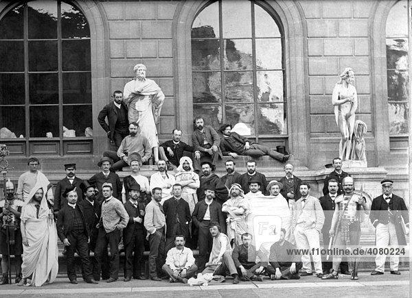 Historische Aufnahme  Künstlergruppe  ca. 1914
