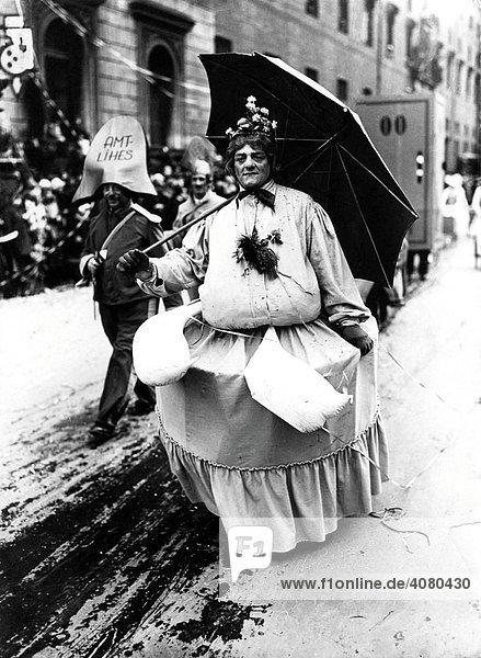 Historische Aufnahme  Karneval  ca. 1922