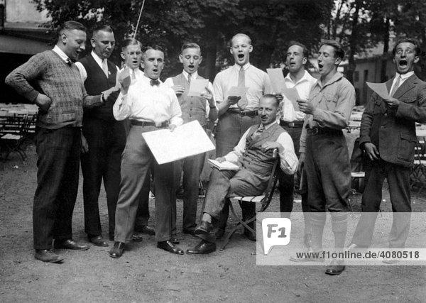 Männerchor  historische Aufnahme  ca. 1932