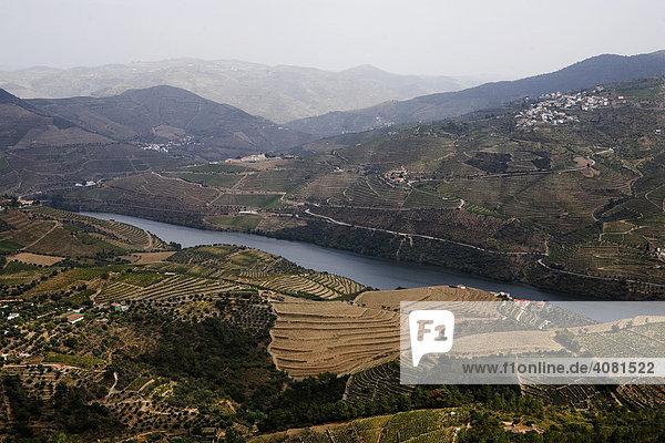 Aussicht auf das Dourotal in Nordportugal