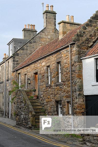 Alte Häuserzeile  Steintreppe  St. Andrews  Schottland  Großbritannien