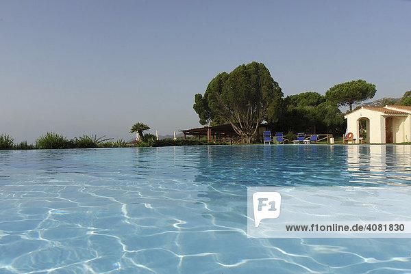 Pool  Sant Margherita di Pula  Sardinien  Italien