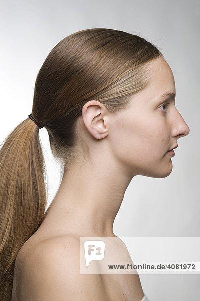 Profil einer Frau