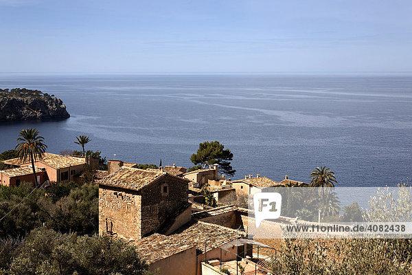 View of Lluc-Alcari on the northern coast of Majorca  Balearic Islands  Spain