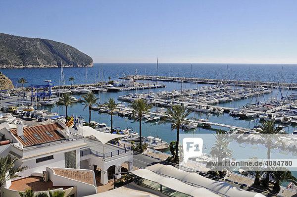 Yachthafen  Moraira  Alicante  Costa Blanca  Spanien