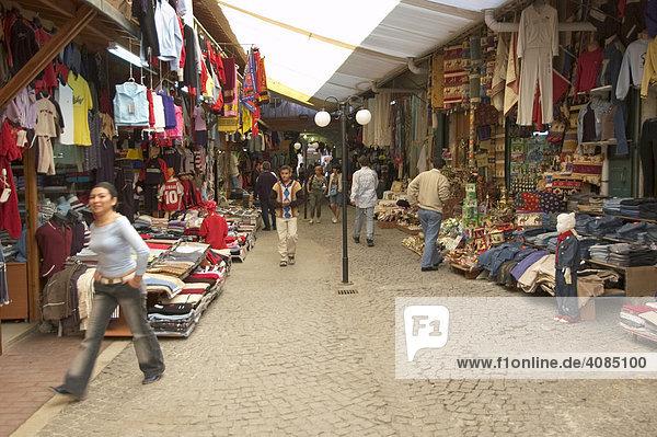 Antalya an der Südküste Türkei im Bazar