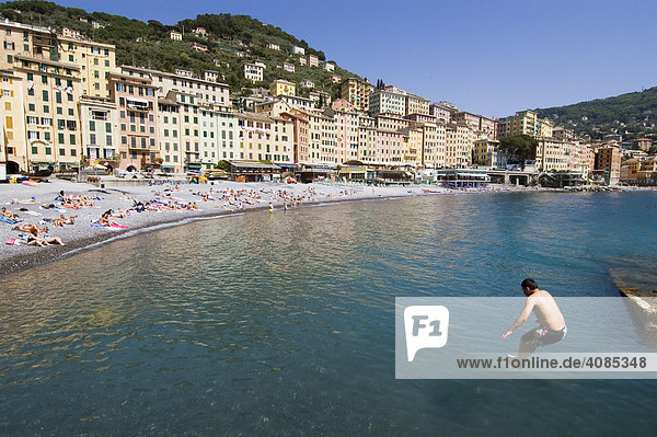 Camogli bei Portofino Riviera di Levante Ligurien Italien