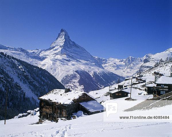 Matterhorn im Wallis Schweiz von Findelen