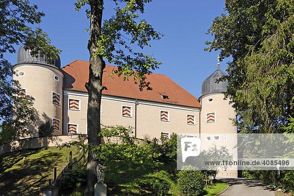 Kronburg Kreis Unterallgäu Schwaben Bayern Deutschland Schloss Ostfront
