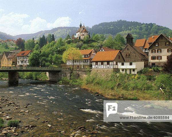 Weisenbach im Murgtal Hochschwarzwald Baden-Württemberg Deutschland