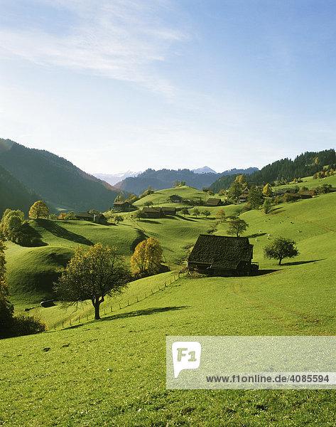 Obersimmental Kanton Bern Schweiz