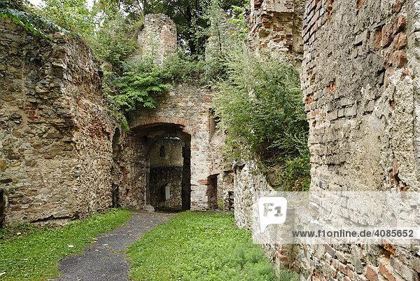 Ruins of castle Landsee Burgenland Austria bailey