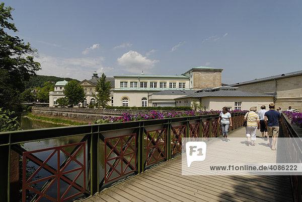 Kurhaus mit Regentenbau und Arkadenhallen an der fränkischen Saale Bad Kissingen Unterfranken Bavaria Rhön Deutschland