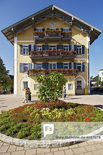 Rathaus  Tegernsee  Oberbayern  Bayern  Deutschland
