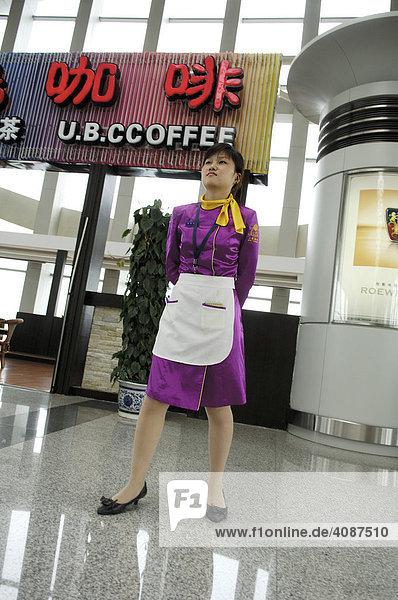 Servicelady  Airport  Chengdu  China  Asien