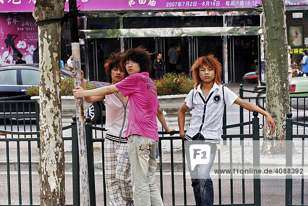 Chinese adolescents  Shanghai  China  Asia