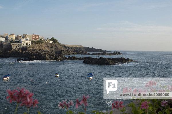 Fischerboote in Alcala  Teneriffa  Kanarische Inseln  Spanien