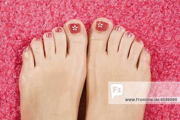Füße  Nagellack