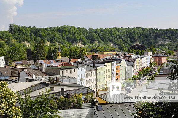 North view of Wasserburg am Inn  Upper Bavaria  Bavaria  Germany