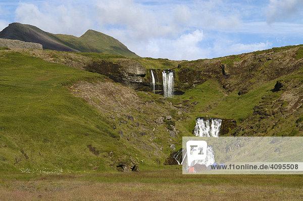 Wasserfall Foss des Flußes Fossa SnÊfellsnes Halbinsel Island