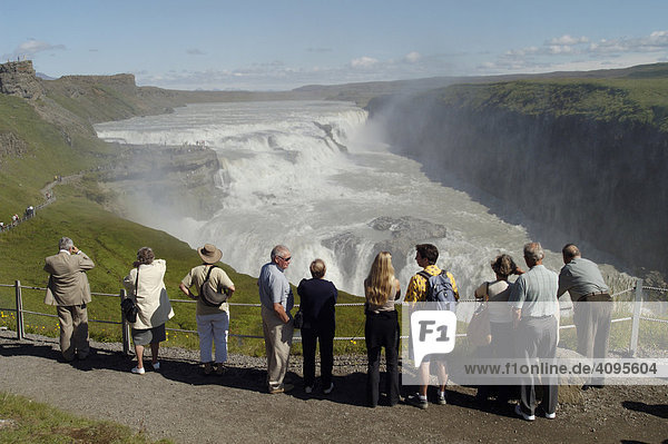 Gullfoss der goldene Wasserfall Kjölur Südisland Island